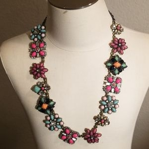 Loft Enamel & Crystal Statement Necklace